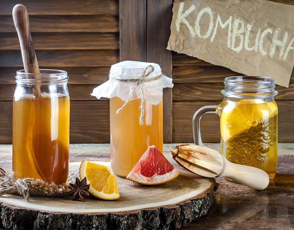 kombucha on display